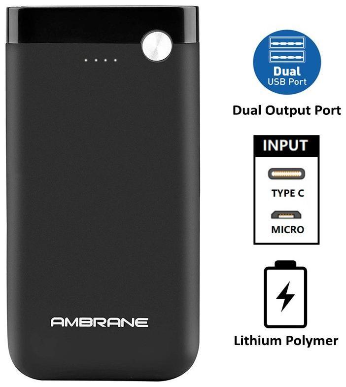 Ambrane PP-11 10000 mAh Power Bank (Black)