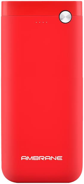 Ambrane PP-20 20000 mAh Power Bank - Red