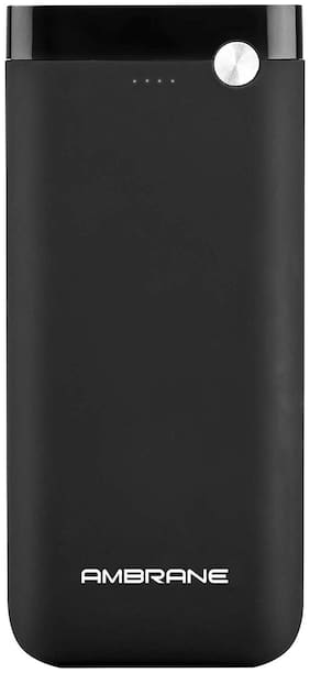 Ambrane PP-20 20000-Mah Lithium Polymer Power Bank - Black