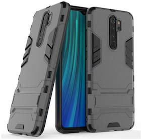 Americhome Polycarbonate Back Cover For Redmi Note 8 Pro ( Grey )