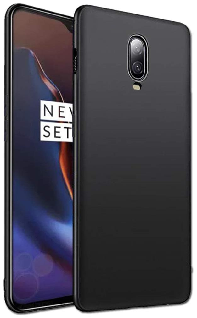 Americhome Rubber Back Cover For OnePlus 6T   Black   by Amerihome