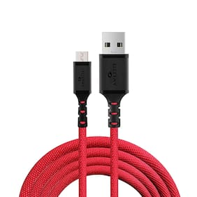 AMKETTE Data Cable 1-1.5m For All Smartphones (Red)