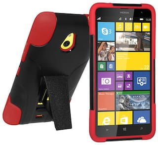 new arrival 82cef 746ce Buy Amzer Back Cover Case For Nokia Lumia 1320 (Red & Black) Online ...