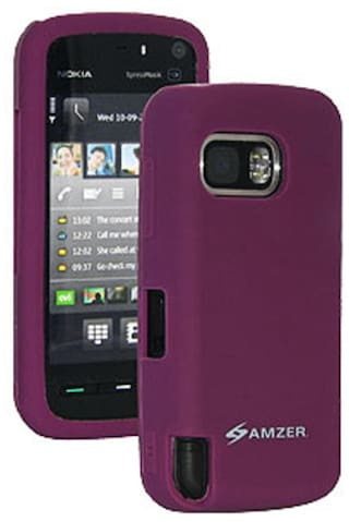 new style cb91f 136c2 Amzer Back Cover For Nokia Xpress Music 5800/Navigation Edition (Purple)