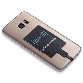 Android QI Wireless Charging Adapter Black #International Bazaar