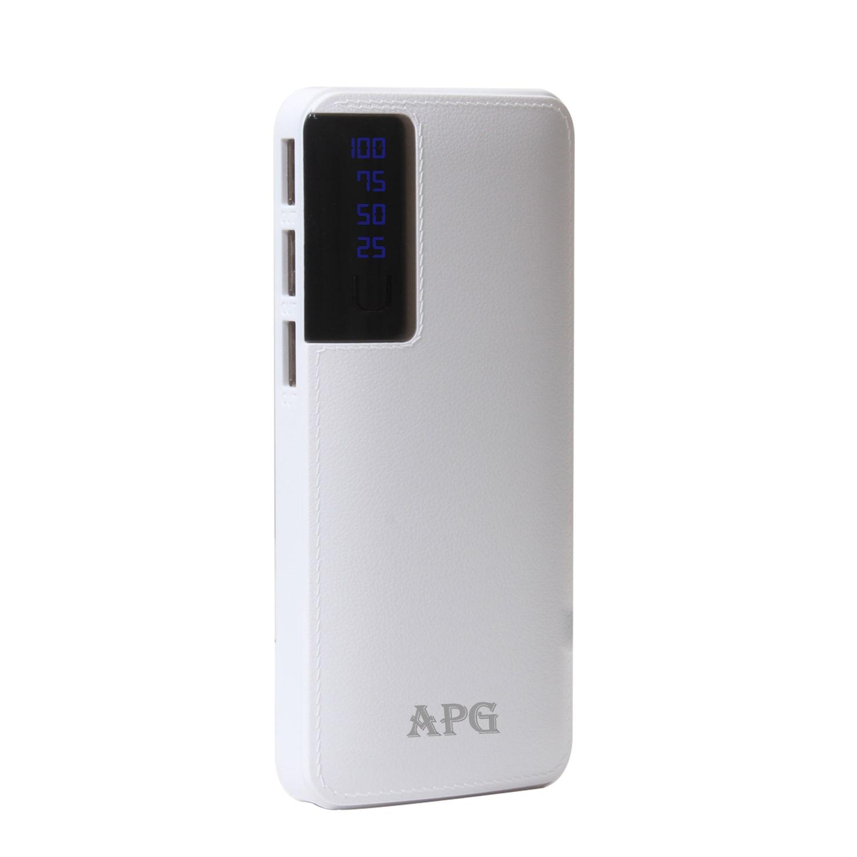 APG Portable 11000 mAh Power Bank  White