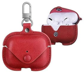 Apple AirPods Pro Leather Pouch By Hadwin ( Red )
