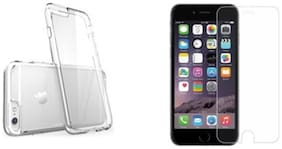 Apple iphohe 6s plus Transparent back cover with tempered glass