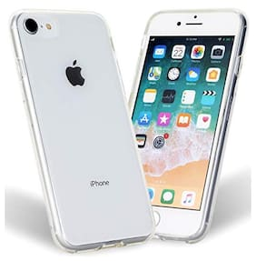 BIG CAT Rubber & Silicone Back Cover For Apple iPhone 7 ( Transparent )