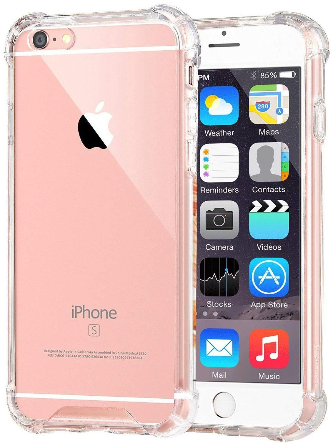 Apple iPhone 6   Apple iPhone 6s TPU Back Cover By BIG CAT   Transparent   by Big Cat
