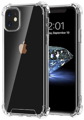 Apple Iphone-11 Bumper Soft Case Back Cover Shockproof Corners with Air Cushion Technology In Transparent