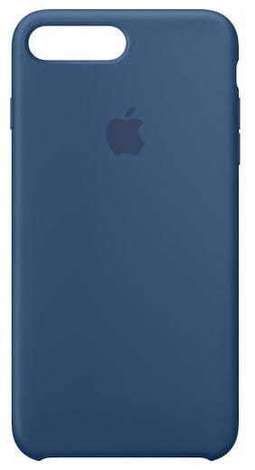 Apple Iphone 7 Plus Soft Case Back Cover In Dark Blue Silicone   Rubber