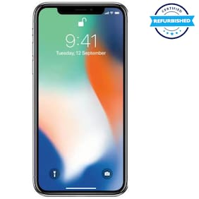Apple iPhone X 64 GB Silver (Refurbished : Excellent)