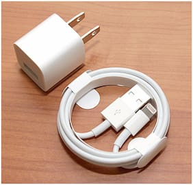 Apple iPhone X XS XR MAX 10 8 7 6S PLUS Wall Charger Lightning Cable GENUINE NEW