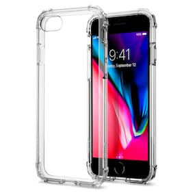 Apple iPhone 8 / 7 Spigen [Crystal Shell] Shockproof Clear Back Bumper Cover