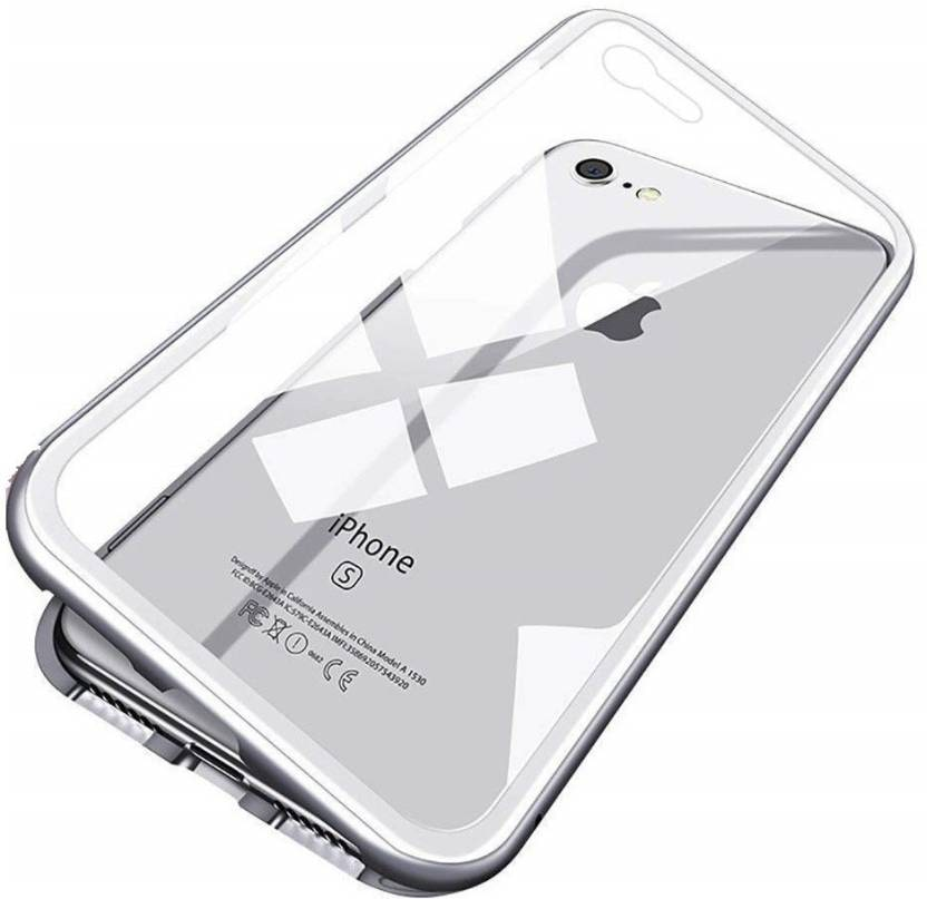 CREATIVO Glass   Metal Back Cover For Apple iPhone 7 Plus   Apple iPhone 8 Plus   White   by Eco Zone