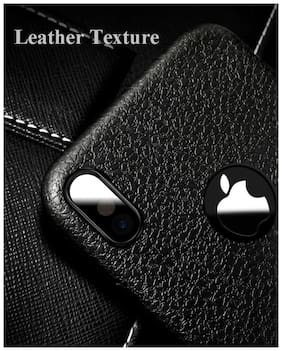 Apple iphone x Soft Leather Back Case Cover