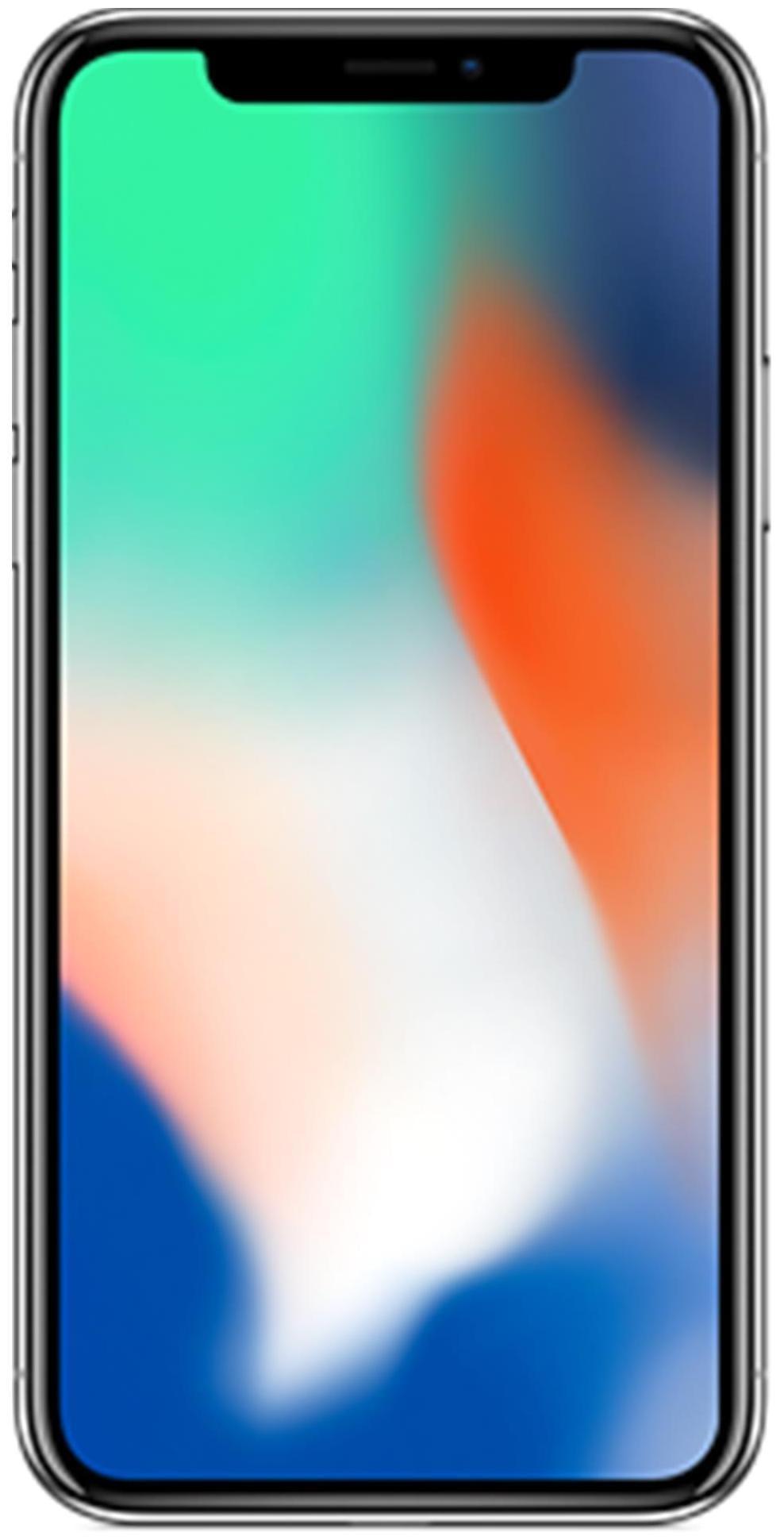 एप्पल आईफ़ोन एक्स 64 जीबी (सिल्वर)