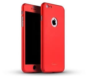 .Apple iphone 5 / 5s 360 Degree Full Body Protection Front & Back Case Cover (iPaky Style) With Tempered Glass For  Apple iphone 5 / 5s Red