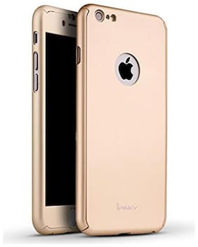 .Apple iphone 7 360 Degree Full Body Protection Front & Back Case Cover (iPaky Style) With Tempered Glass For  Apple iphone 7 Gold