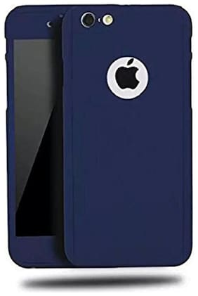 .Apple iphone 5 / 5s 360 Degree Full Body Protection Front & Back Case Cover (iPaky Style) With Tempered Glass For  Apple iphone 5 / 5s Blue