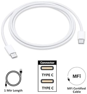 Apple MUF72ZM/A Usb c type cable - 1 mtr , White