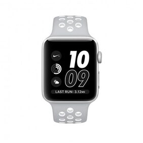 Apple Watch Series 2 Nike+, 42mm Silver Aluminium Case with Flat Silver/White Nike Sport Band