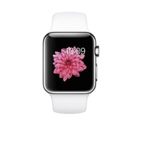 Apple 42 mm Silver Stainless Steel With White Sport Band Smart Watch