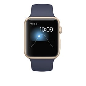 Apple 42 mm Gold Aluminum Midnight With Blue Sport Band Smart Watch