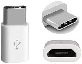 Appreciate Micro 3.1 USB to Type C Charging and Data Transfer OTG Adapter (White)