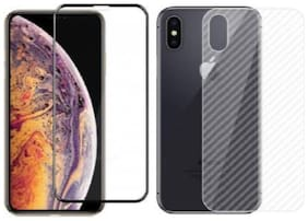APYLOOK Combo [Tempered Glass + Skin] for Apple iPhone XS Max