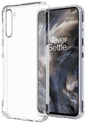 APYLOOK Silicone Soft Back Cover For OnePlus Nord ( Transparent )