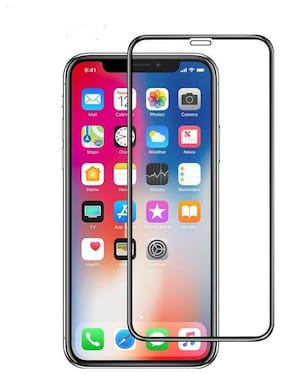 ARCHIST Apple iPhone XS MAX Best Quality 5D Curved Edges SUPERB Quality Glass Screen Protector (BLACK 5D/ 9H)