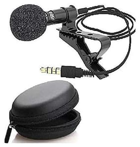 ARHUB 3.5mm Clip Microphone For Youtube;Collar Mike;Mic For Voice Recording;Lapel Mic Mobile;Pc;Laptop;Android Smartphones;Dslr Camera with carry pouch