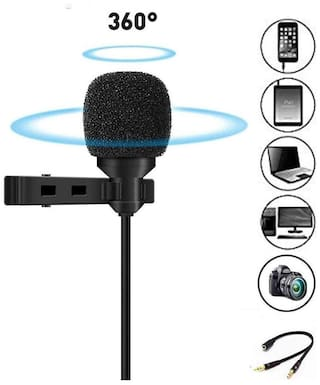 ARHUB 3.5mm Clip Microphone For Youtube;Collar Mike;Mic For Voice Recording;Lapel Mic Mobile;Pc;Laptop;Android Smartphones;Dslr Camera
