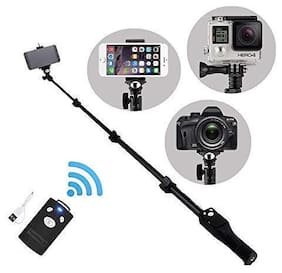 ARHUB Bluetooth Selfie Stick with Remote Shutter;YT-1288 Adjustable Stick for All Devices
