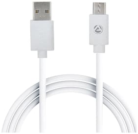 ARU Data & Charging Micro USB Cable ( 1 mtr , White )