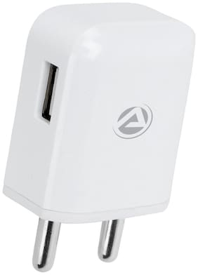 ARU ARQ-20 Quick Charge QC 2.0 Fast Charger With Charge & Sync USB Cable- White