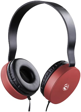 ARU AWH-92 Over-Ear Wired Headphone ( Red )
