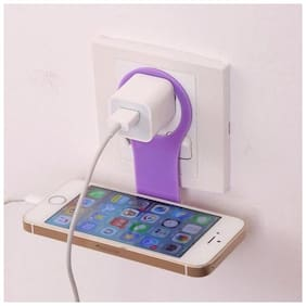 Aryshaa Universal Mobile Charging Wall Stand Shelf Holder For All Mobile Phones (Pack of 1Pc) Assorted Colors