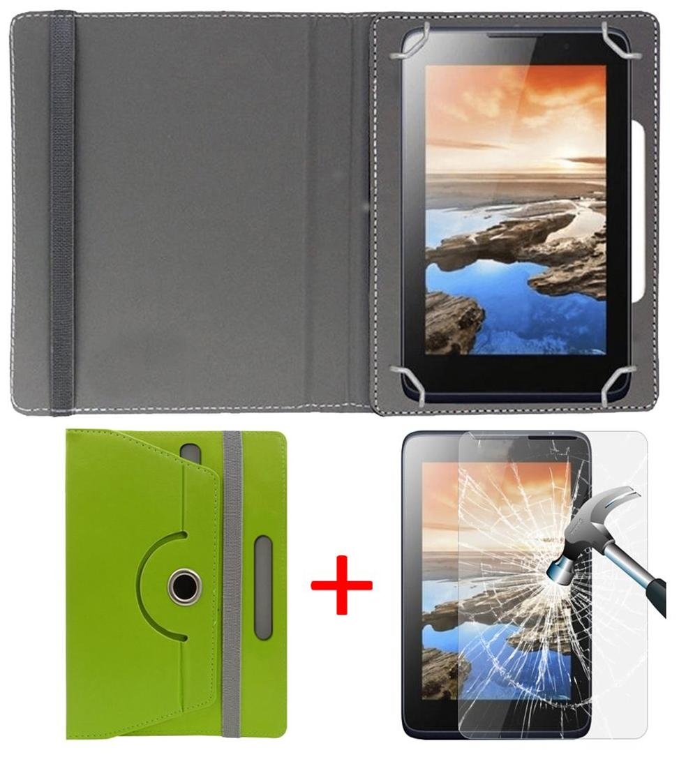 Asus Zenpad C 7.0 16    GB  Z170CG  Book Cover + Free Tempered Glass by Hello Zone Green
