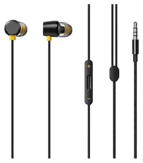 ASWORLD Realme Bass Headphone In-Ear Wired Headphone ( Black )