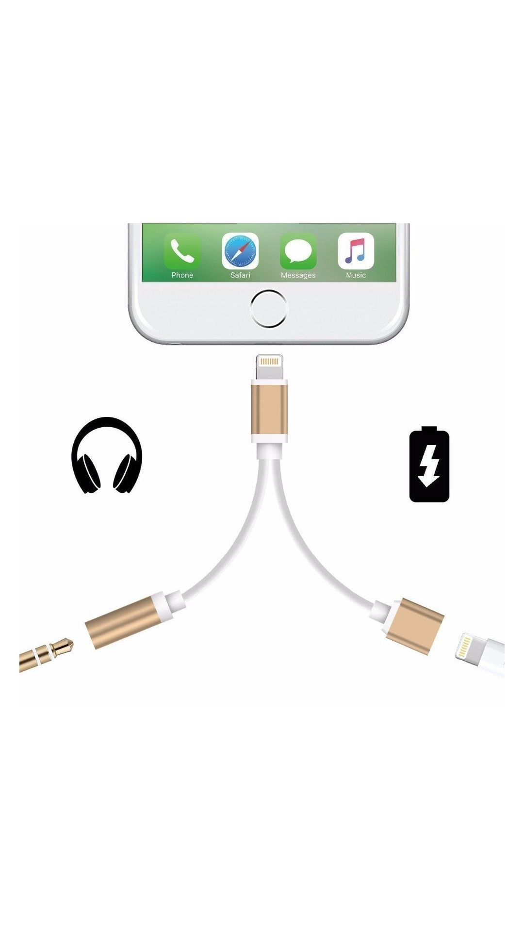 new concept 69073 e69e5 Buy AusleseTM iPhone 7- 7 Plus Lightning to 3.5mm Power Audio Charge ...