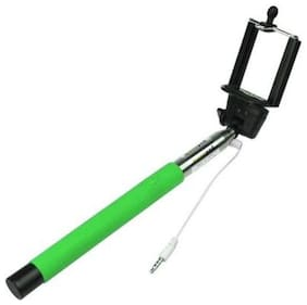 Aux selfie stick For All mobile compatable Green