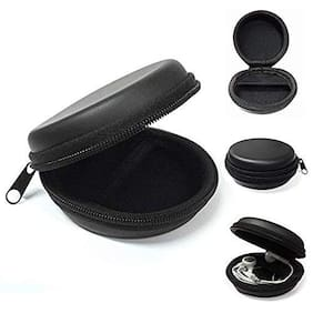 Avyukta Black Earphone Pouch Multi Purpose Pocket Storage Case for Headphone;Pen Drives;Memory Card;Data Cable (1 CASE)