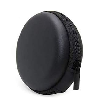 Avyukta Carrying Case Portable Protection Storage Bag for Earphone Headset Headphone Black