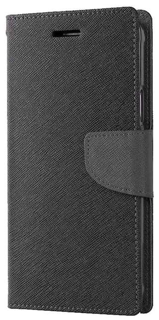more photos 17517 dbb82 Avzax Flip Case Cover with Magnetic Closure For Micromax Canvas Doodle 3  A102 (Black)