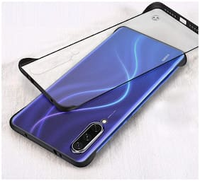 Backlund Samsung Galaxy A50 / Samsung A30s Frame-Less Design Matte Hard Plastic Back Cover TPU Shockproof Bumper Corner Ultra Slim Thin Translucent Protective Phone Case for Samsung A50 (Matte Black)