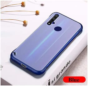 Backlund Framless Case & Cover for Realme 5,Realme 5i,Realme 5s Shock Proof Ultra Slim Frameless Design, Complete Protection|Hybrid Bumper Hard Back Case Cover Designed for REALME 5 Blue Without Ring