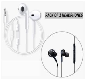 AZANIA COMBO OF 1APL + 1AKIG In-Ear Wired Headphone ( Assorted )